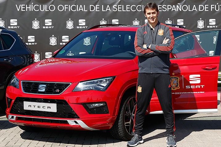 A SEAT a spanyol labdarugó válogatott támoatója